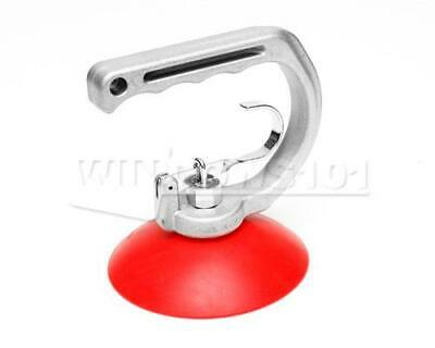 Suction Cup Single 5in/12cm With Metal Handle Red Silicone
