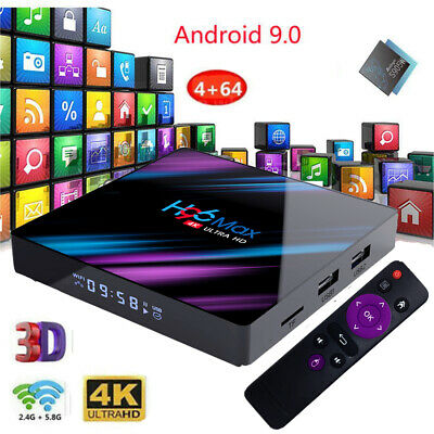 H96 Max Quad Core Android 9.0 Smart TV Box 16/32/64G WIFI 4K Media+Tastiera N8K1