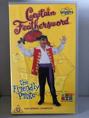 The Wiggles ~ Captain Feathersword ~ The Friendly Pirate ~ Rare Pal Vhs Video