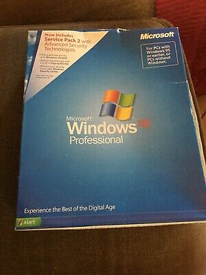Microsoft Windows XP Professional Full with SP2 English Retail PRO Sealed Box