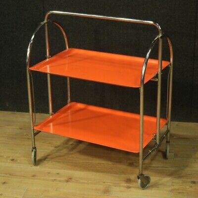 Small Table Folding Shopping Cart Service Lunchbox Furniture Vintage Design