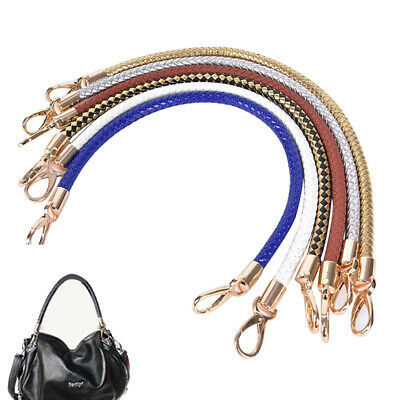 Leather Braided Purse Handle Shoulder Bags Belt Replacement Handbag Strap DIY FT