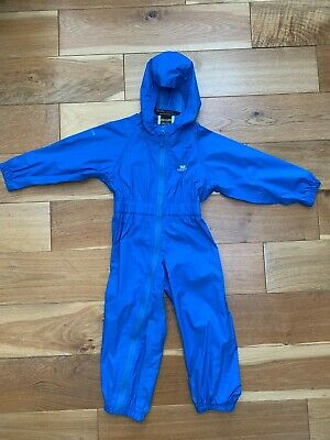 KIDS BLUE  ALL IN ONE WATERPROOF CHILD PUDDLE SUIT RAINSUIT  BOY GIRL 9M-3YRS