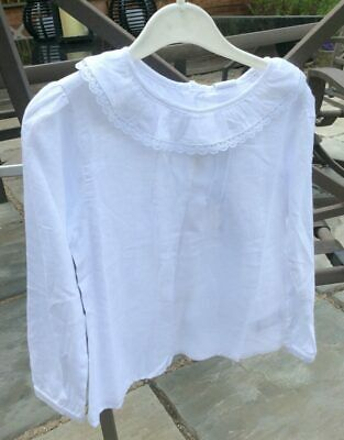 GIRL White Blouse with Frill Collar by Spanish Brand Newness Age 6, 8, and 10Yrs
