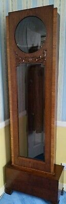 Antique Art Deco Oak Longcase Grandfather Clock (CARCASE/SHELL ONLY)