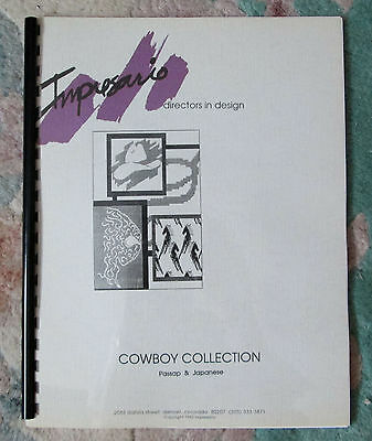"""Cowboy Collection"" Impresario Directors in Design Machine Knitting Patts w/Disk"