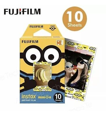 Fuji FujiFilm Instax Mini Minion Variety Border  10 shots Instant Camera Film