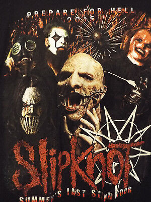 Slipknot Summer Last Stand Prepare for Hell 2015 Tour shirt Size Youth L Adult S