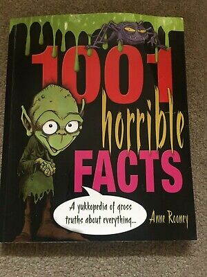 1001 HORRIBLE FACTS, by ANNE ROONEY - CHILDREN'S FUN BOOK! (paperback)