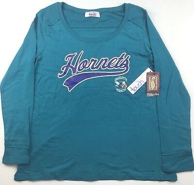 Charlotte Hornets NBA Womens Size XL Touch by Alyssa Milano L/S Shirt Top NWT