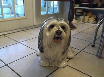 Townsends Ceramic Lhasa Apso Dog Statue 1977- Life Size