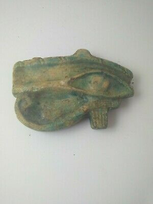 Rare Ancient Egyptian Large Faience Eye Of Horus Amulet 1175 - 800 Bc