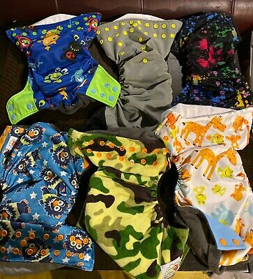 Cloth Diaper Lot: Alva Covers/Inserts, Thirsties AIO, Gerber and Alva Inserts