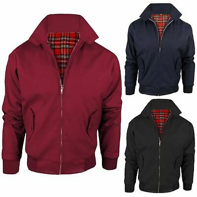 Mens Harrington Jacket Classic Retro Vintage Casual Trendy Winter Bomber Coat