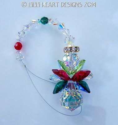 m/w Swarovski Rare Christmas Color AB Wings Angel SunCatcher Lilli Heart Designs