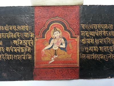 Very Rare Museum Quality 14~15th Tibet Buddhist Illuminated Manuscript 6 Sheet