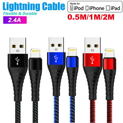 Fast Speed Charging 8 Pin Lightning Data Charger Cable For Apple iPhone iPad Pod