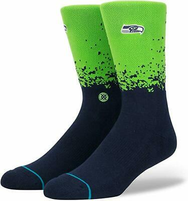 NWT Mens L Stance Seattle Seahawks NFL Athletic Crew Socks Large 9-12 Fade Green