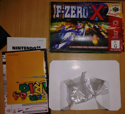 Game Box and Operation Card Only for F-Zero X N64 – Genuine PAL/AU Version