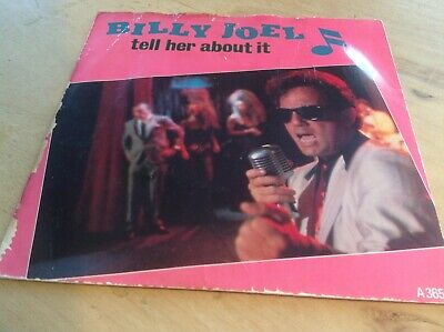 """billy joel tell her about it 7"""" vinyl record"""