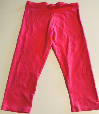 Faded Glory Girls Pink Cropped Leggings Pants Size 10-12
