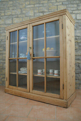 AMAZING V.Large Pine School Library / Pantry / Housekeepers Cupboard / Bookcase