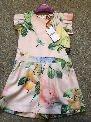 Ted Baker Girls Age 7 Playsuit Distressed Rose Bnwt Rrp £36