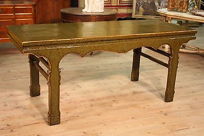 Table Console Wood Lacquered Furniture Console Antique Style Vintage Antique