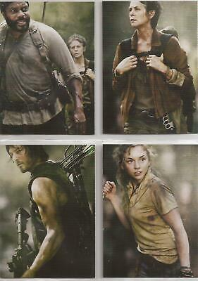 The Walking Dead Season 4 Part 1 Trading Cards - Poster Set (D1-D4)