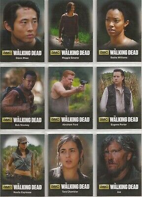 The Walking Dead Season 4 Part 2 Trading Cards - Character Set (C10-C18)