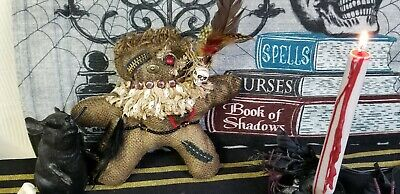 Voodoo Poppet Wicca Pagan Hoodoo Witchcraft Doll with Decorative Pin