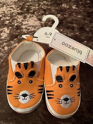 Blue Zoo Debenhams Tiger Baby Shoes 6-9months BNWT