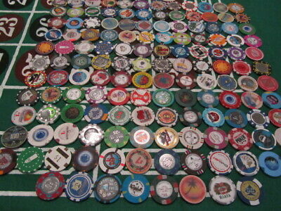 140 Casino Chip Lot Las Vegas & Poker Room Set Roulette Fantasy Clay Ceramic 100