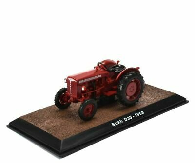 Bukh D30-1958 Tractor, MODEL TRACTOR, VEHICLE, 1:32, SIZE, IXO, ATLAS,Red, FARM