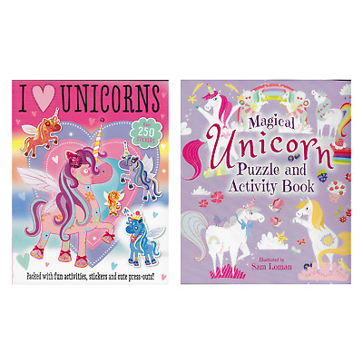 Unicorn Activity Books ~ Stickers ~ Puzzles ~ Colouring ~ Press Outs