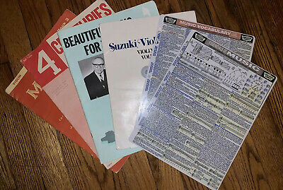 Lot Of Antique/Vintage Violin Sheet Music/Training Books And Quick Guides