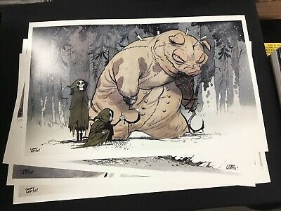 Set of 4 Signed Prints by Cory Loftis