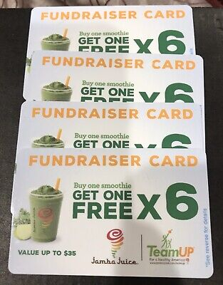 Four (4) Jamba Juice Smoothie BOGO X 6 Cards
