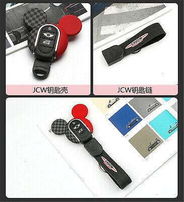 Silicone Keyring Keychain FOB Remote Key Cover Case For Mini Cooper F54~F60 K04