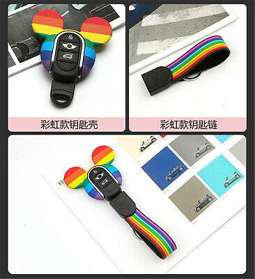Silicone Keyring Keychain FOB Remote Key Cover Case For Mini Cooper F54~F60 K05