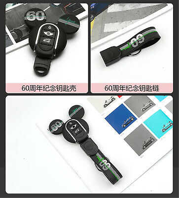 Silicone Keyring Keychain FOB Remote Key Cover Case For Mini Cooper F54~F60 K06