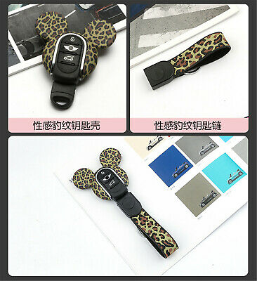 Silicone Keyring Keychain FOB Remote Key Cover Case For Mini Cooper F54~F60 K07