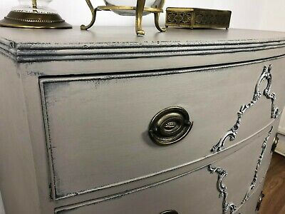 Bow front Antique/ Victorian/ Shabby Chic chest of drawers