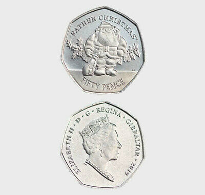 Gibraltar 2019 Father Christmas 50p Coin from Sealed Bags........ now SOLD OUT