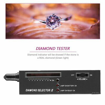Portable Diamond Gem Tester Selector V2 with Case Gemstone Platform Jeweler MT