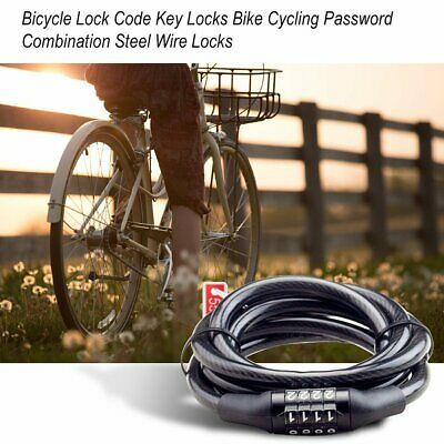 Bicycle Lock Code Key Locks Bike Cycling Password Combination Steel Wire Locks#