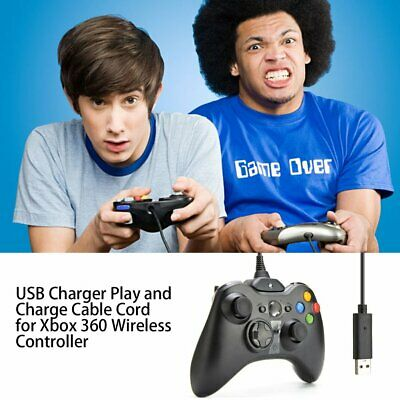 USB Charger Play And Charge Cable Cord For Xbox 360 Wireless Controller MT