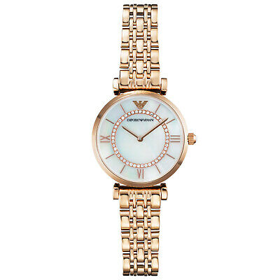 Genuine Emporio Armani Ladies watch rose gold case and strap AR1909 Brand new
