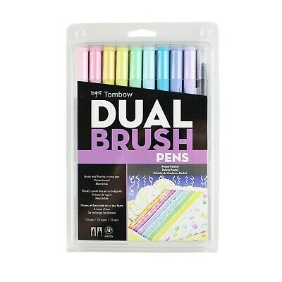 Tombow Dual Brush Pen Art Markers, Assorted Sets, 10-Pack. Blendable, Brush Pens