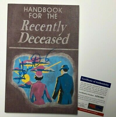 Geena Davis Signed 'Handbook For The Recently Deceased' Book PSA AE81667